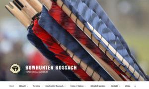 Bowhunter Rossach Webseite im neuen Gewand