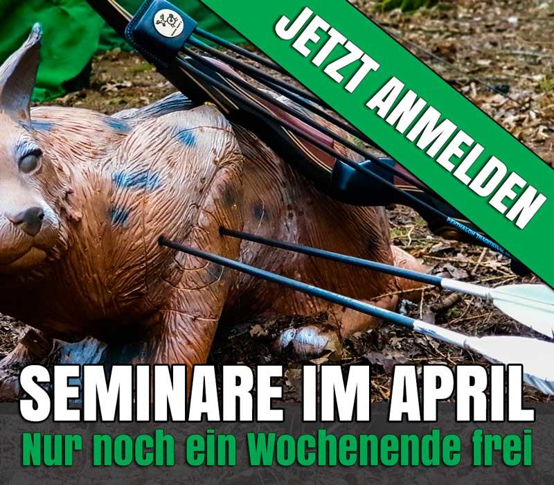 Nur noch ein Seminarwochenende im April verfügbar